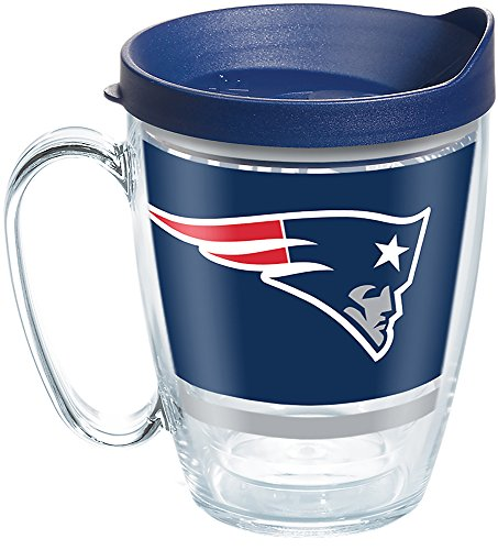Tervis Made in USA Double Walled NFL New England Patriots Insulated Tumbler Cup Keeps Drinks Cold & Hot, 16oz Mug, Legend