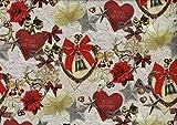 Provencestoffe.com Wunderbar romantischer Weihnachtsstoff,