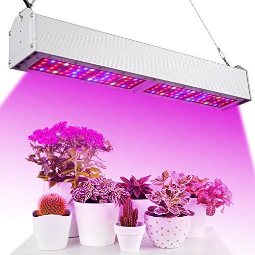 Deaunbr 300W LED Pflanzenlampe, Vollspektrum Pflanzenlicht Led Grow Lampe UV IR 112 LEDs Pflanzenleuchte Wachstumslampe für Garten Zimmerpflanzen, Gewächshäusern, Zimmerpflanzen Innengärten