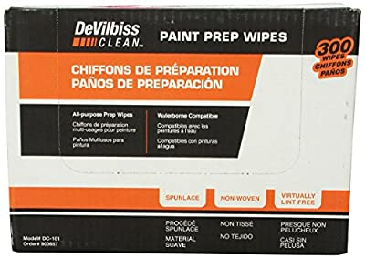 DeVilbiss 803657 DC101 Paint Prep Wipe, (Box of 300)