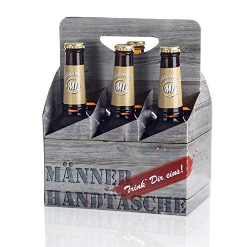 Sixpack 6 x Hopfensprudel in der Männerhandtasche Original ML Helles in 0,33 Liter Flaschen Alc.5,2% vol.