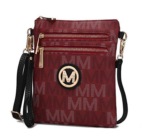 MKF Bolsa transversal para mulheres, alça de pulso – Bolsa de ombro de couro PU – Pequena bolsa transversal, Valerie Burgundy