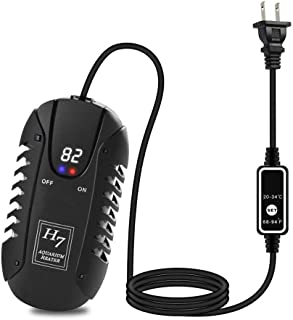 MQFORU AU Plug Submersible Aquarium Heater 200W with Digital LED Display and External Thermostat Controller, for Fish Tank 25-60 Gallon