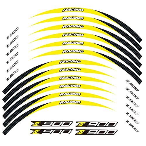 Motos Calcomanías Calcomanía de la Motocicleta Etiquetas engomadas de la Rueda Exterior de la Rueda del neumático Frontera de la película Frontera calcomanías de la decoración del neumático para Z900