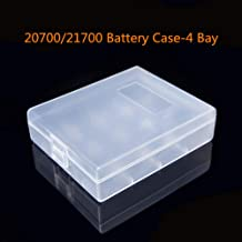 20700/21700 Plastic Battery Case Portable Dual Box Holder Clear (Clear(4 Bay))