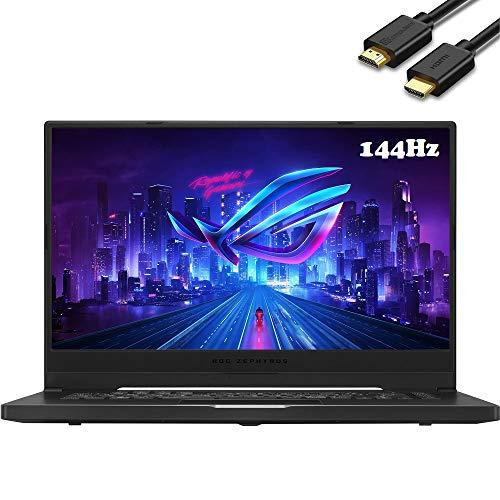 ASUS ROG Zephyrus G15 15.6' FHD 1080P 144Hz IPS Gaming Laptop (AMD Ryzen 7 4800HS 8-Core (beats i7-1165G7), GTX 1660Ti Max-Q, 16GB DDR4, 1TB PCIe) Backlit, Wi-Fi 6, Windows 10, IST HMDI Cable, GA502IU