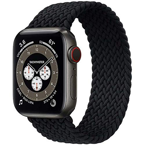 Fancyli Solo Loop Correa trenzada compatible con Apple Watch 6/5/4/3/2/1/SE para 38/40 mm y 42/44 mm
