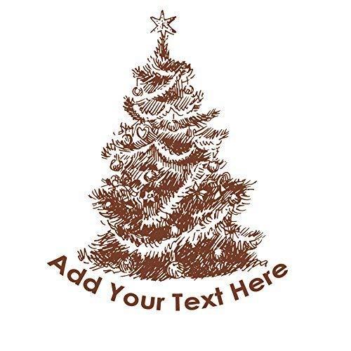 Personalised Christmas Eve Box vinyl sticker decal custom made xmas holidays