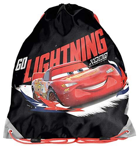 Ragusa-Trade Disney Cars Lightning McQueen - Turnbeutel Sportbeutel Schuhbeutel (DSB), 38 x 34 cm, schwarz