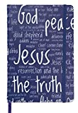 Christian Journal for Men Women – Names of God - Daily Devotion Notebook – Write Praises Thanks Scriptures Meditations - Inspirational Religious Gift – Hard Cover – Perfect Size (Blue)