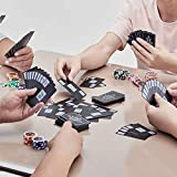 FEE-ZC Inicio Oficina Creativa Solitario Mahjong Exfoliante de plástico Mahjong Naipes Espesar Impermeable Viaje portátil Mahjong 144 Hojas