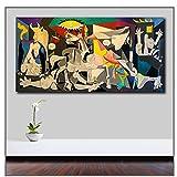 GIRDSS Wlong Pablo-Picasso-Guernica Pop-Art Leinwand Gemälde Druck Wohnzimmer Wandkunst Ölgemälde Poster-60X120cm ohne Rahmen