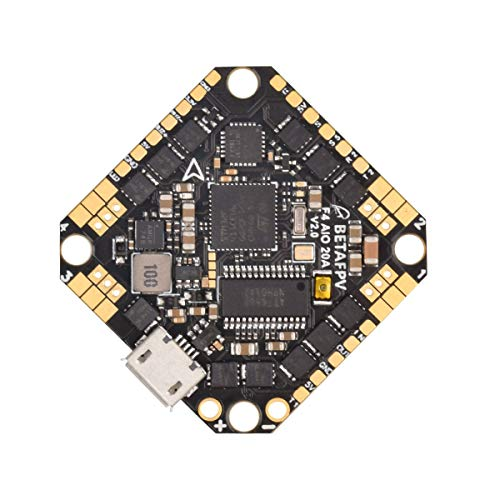 BETAFPV F4 20A AIO Toothpick Brushless Flight Controller V2 2-4S FC BLHELI_S 20A ESC No RX OSD with XT30 Cable for 3-4inch Toothpick Micro Quadcopter FPV Racing Drone Like HX110 HX115 Quads