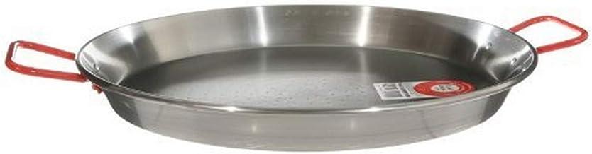 Garcima 13-inch Carbon Steel Paella Pan, 32cm Silver