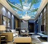3d decke foto Himmel baum benutzerdefinierte 3d tapete fototapete natur wohnzimmer schlafzimmer 3D decke gemälde wallpaper-200 * 140 cm
