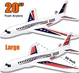 BooTaa 2 Pack 20' Airplane Toys, Outdoor Kids Toys for Backyard, Large Foam Plane Glider, Outside Toys, Gifts/ Toys for 3 4 5 6 7 8 9 10 Year Old Boys Girls, Outdoor Yard Games for Kids Family Adults