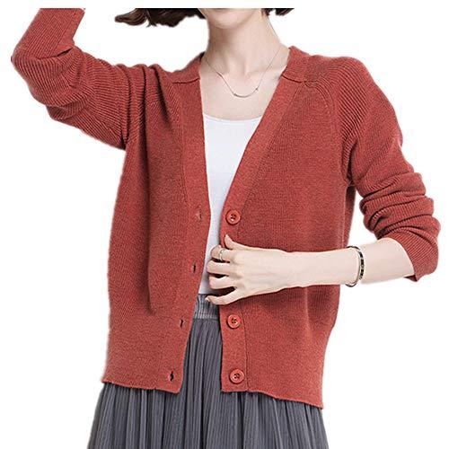 El cárdigan de punto para mujer es versátil, estilo corto y suéter.