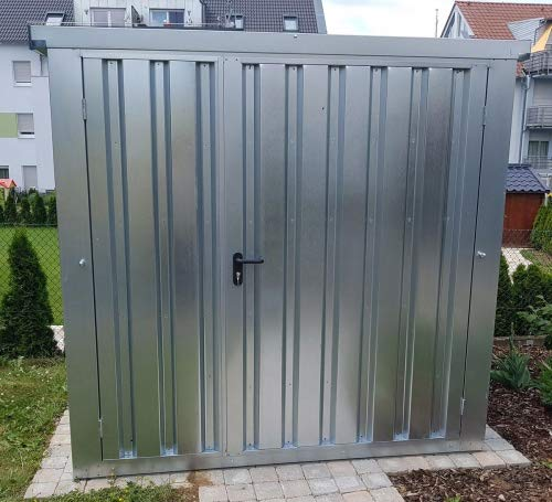 *Materialcontainer Typ MCS 2.1 verzinkt mit 2-flügeliger Tür*