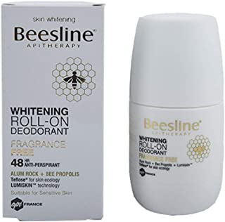 Beesline Whitening Roll-On Deodorant, Fragrance Free