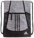 adidas Unisex Alliance II Sackpack, Grey Heather/Black/White, ONE SIZE