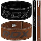 RDX Powerlifting Belt for Weight Lifting - Approved by IPL and USPA - Lever Buckle Gym Training Leather Belt 10mm Thick 4 inch Lumbar Back Support-Great for Strongman, Bodybuilding, Deadlifts & Squat