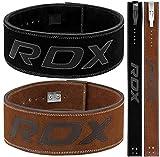 RDX Cinturon Musculacion para Power Lifting Gimnasio Entrenamiento | Aprobado por IPL y USPA |4' Lumbar Palanca Hebilla Peso Levantamiento Cinturón para Gym Fitness, Muscular Xfit Ejercicio, Deadlifts