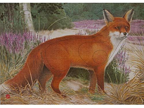 JVD Papierauflage Scheibenauflage Zielscheibe Tierauflage Fuchs 68x50cm