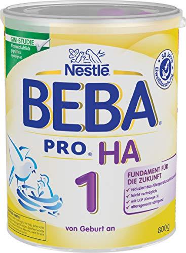 Nestlé BEBA PRO HA 1 Anfangsnahrung, von Geburt an, 800g