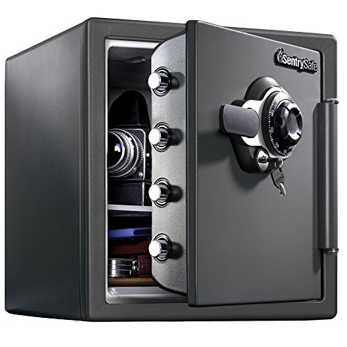 SentrySafe SFW123DSB Fireproof Safe and Waterproof Safe with Dial Combination