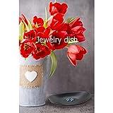 Schmuck Tablett Dish Schwarze Schlüsselschale Organizer-Schlüsselablage Schlüsselanhänger Gerichte für den Eingang Schmuckschale Tischdekoration Einweihungsparty Geschenk (Oval) - 7