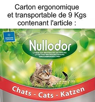 NULLODOR Litière en Silice pour Chat Carton de 9 kg