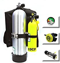 DXDiver Bailout Pony Bottle 19CF (2.7L) - Kit with Stailess Steel Highland Pony Bracket Tank Gauge Regulator Spare Backup Air Scuba Dive Egressor