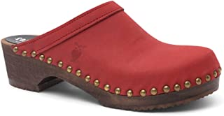 Swedish Low Heel Wooden Clog Mules for Women   Athens