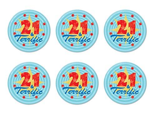 Beistle 57237-21 Deko-Perlen zum 21. Geburtstag, 12 Stück Knöpfe Mehrfarbig