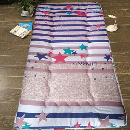 RTYUIO Colchón de futón Grueso Plegable Individual, colchón para Dormir de Piso de Tatami portátil para Dormitorio en casa Dormitorio-b 90x200cm (35x79inch)