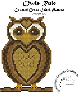 Owls Rule Counted Cross Stitch Pattern