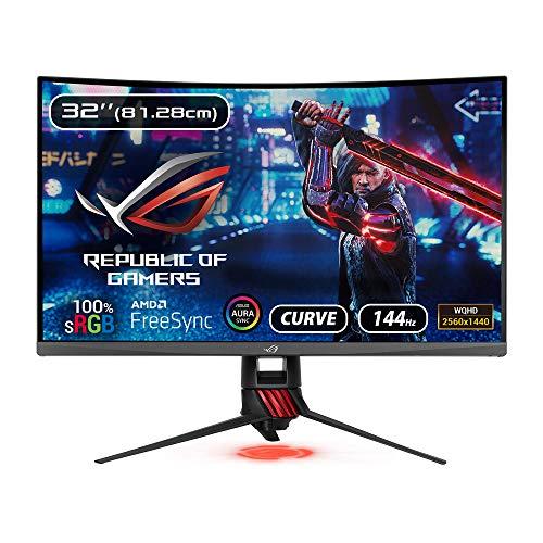Asus ROG Strix 32-inch Curved Gaming Monitor WQHD 1920 x 1080 Pixels - 2560 x1440 144Hz SRGB - XG32VQ (Black)