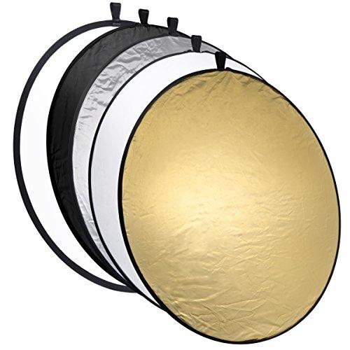 Mantona 22001 - Reflector para iluminación fotográfica, Plateado