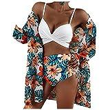 VODMXYGG Las Mujeres de la Moda de impresión Sexy Bikini de Tres Piezas de Malla de Split Traje de Playa de baño Adecuado Viajes Playa 0916284