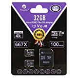 Amplim TF Card 32GB Micro SD Card 2 Pack Plus Adapter for Phone, Tablet, Camera