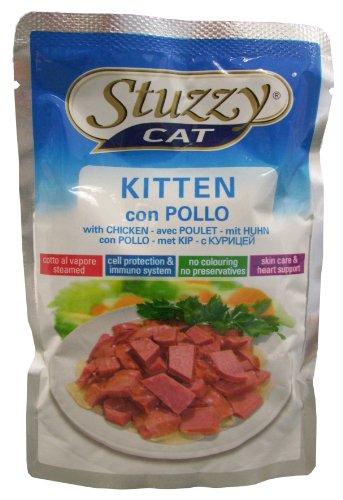 Stuzzy mangime per Gatti Kitten Pollo porzione Sacchetto 100G, Confezione da (24X 100G)