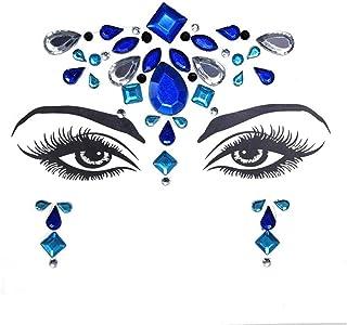 Qqinghan Masquerade Shiny Face Decoratie 3D Crystal Sticker Muziek Festival Trendy Glanzende Acryl Boor Sticker Tijdelijke...