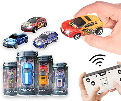 BARMI Rechargeable Mini RC Car Remote Control Micro Racing Can RC Car 1 64 Scale Car Toy Gift product image