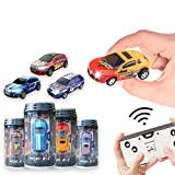 BARMI Rechargeable Mini RC Car, Remote Control Micro Racing Can RC Car 1:64 Scale Car Toy Gift for Kids Car Can Gift for Boy Light Blue