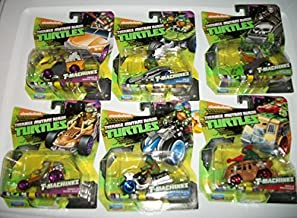 PlayMates (6) T-Machines Teenage Mutant Ninja Turtle/ Donnie in Patrol Buggy/ Donnie in Service Truck/Leo in AT-3/ Leo in Steath Bike/ Casey Jones in Ice Machine/ Raph in Shellraiser/