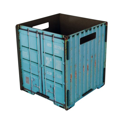 Werkhaus Container - Papelera, color turquesa