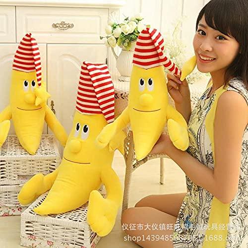 CPFYZH 50 / 100Cm Divertido Usar Sombreros Banana Man Doll Lindo Banana Pillow Plush Toy Banana Doll-Yellow_100Cm