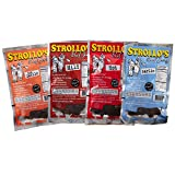 Strollo's Beef Jerky Sampler - Variety 4 Pack (1 of each flavor) Low Sodium, Low Carb, Low Sugar - Made with all Natural USA Beef, USDA Certified
