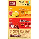 Pressed by Kind Fruit Bars, Cherry Apple Chia, Mango Apple Chia,Variety Pack, 1.2 oz, (.Variety Pack, 18 Bars)
