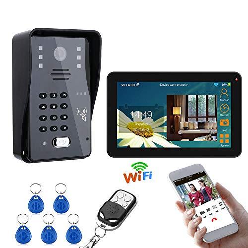 XINTONGSPP 9 Pulgadas con Cable/WiFi HD inalámbrico Timbre de la Puerta, Sistema...